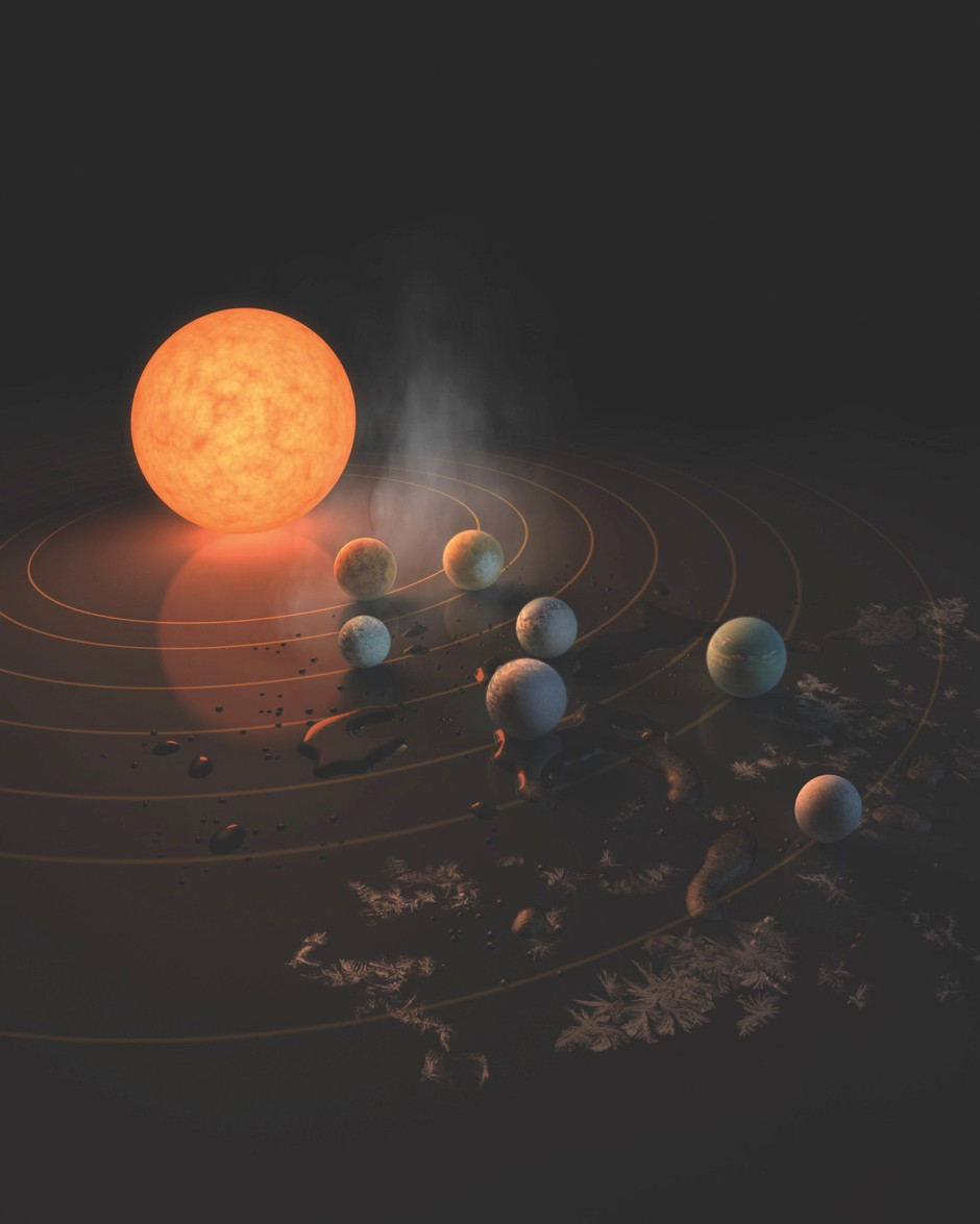 By studying their atmospheres, we can confirm if some of the planets surrounding the TRAPPIST-1 star have the right conditions for liquid water to exist.