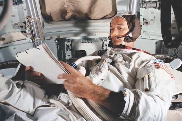 Michael Collins: Apollo 11 command module pilot © NASA/JSC