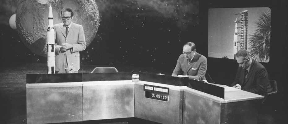 On air, on the Moon: BBC presenters recall the night of the Moon landing © BBC