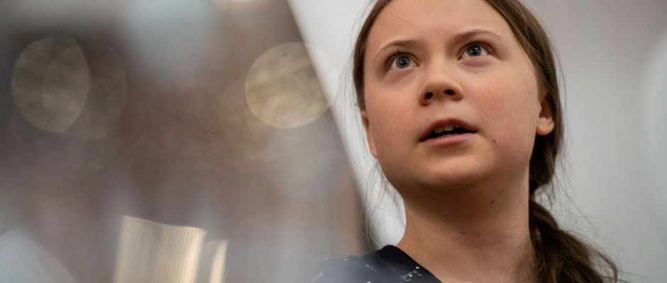 "Dean Burnett: You could forgive a teenager for looking at the wider adult world, and saying ""…it's really up to us now"" (Greta Thunberg speaks at an event with other climate activists on 22 April 2019 in London © Chris J Ratcliffe/Getty Images)"
