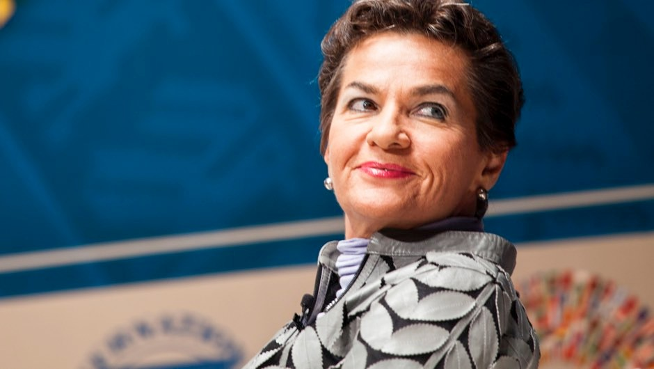 Christiana Figueres, executive secretary of the United Nations framework convention on climate change, listens during a panel discussion on climate change at the World Bank Group and International Monetary Fund (IMF) annual meetings in Lima, Peru, on Wednesday, Oct. 7, 2015 © Guillermo Gutierrez/Bloomberg via Getty Images