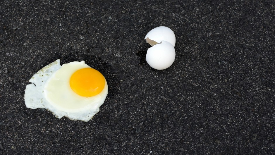 Quick Q&A: How hot would a pavement have to be in order to fry an egg on it?
