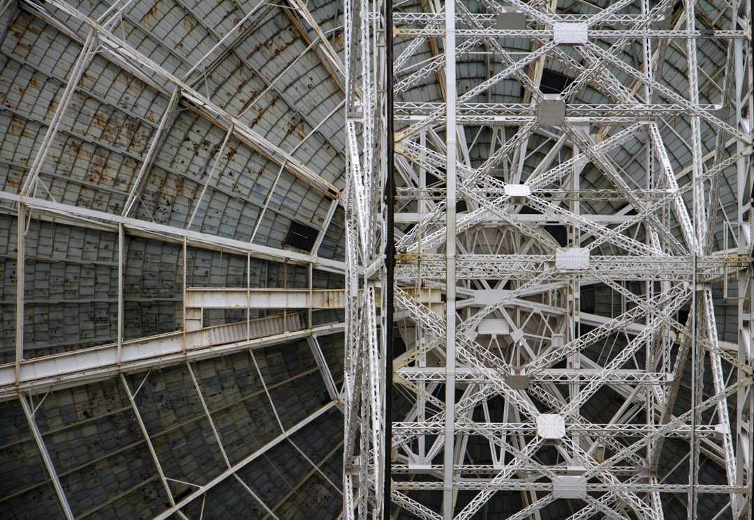 Lovell Telescope Series 1C A study of the Lovell Telescope at Jodrell Bank. © Marge Bradshaw