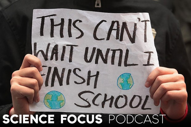 Science focus Podcast: Are Generation Z our only hope for the future? – John Higgs (Students and activists participate in a climate change strike on 15 March 2019 in Chicago, USA Scott Olson/Getty Images
