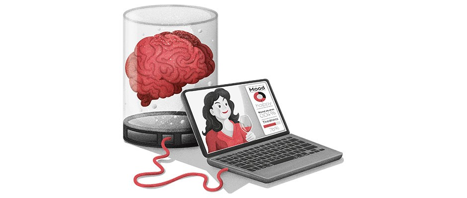 When we start uploading our brains to computers, will our sense of self be uploaded too?