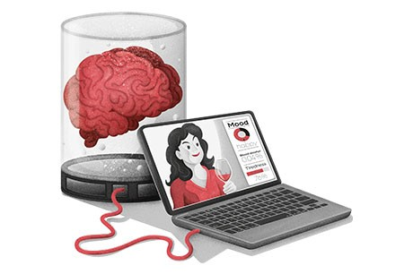 When we start uploading our brains to computers, will our sense of self be uploaded too? © Dan Bright