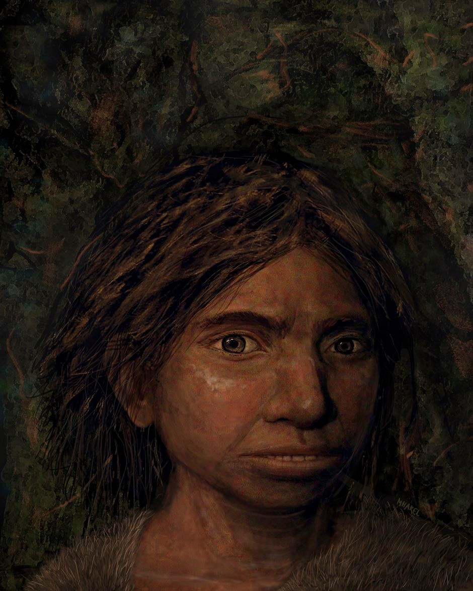 This image of a Denisovan girl is based on the skeletal reconstruction © Maayal Harel