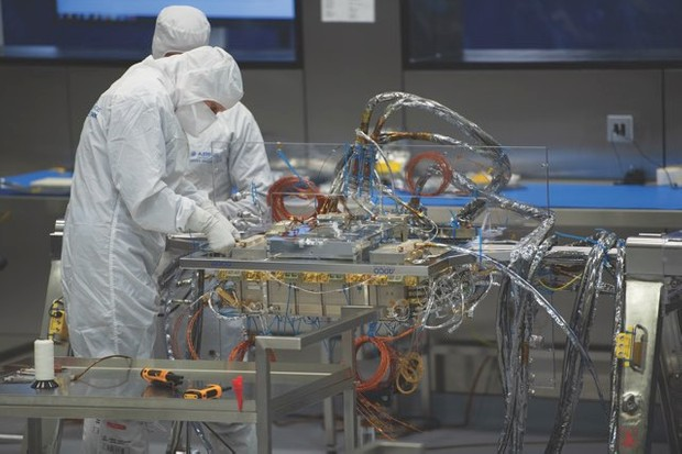 All of the components of the rover are sterilised before they are assembled in a purpose-built clean room. This ensures that dirt or microbes from Earth will not contaminate any evidence of life on Mars. © ESA