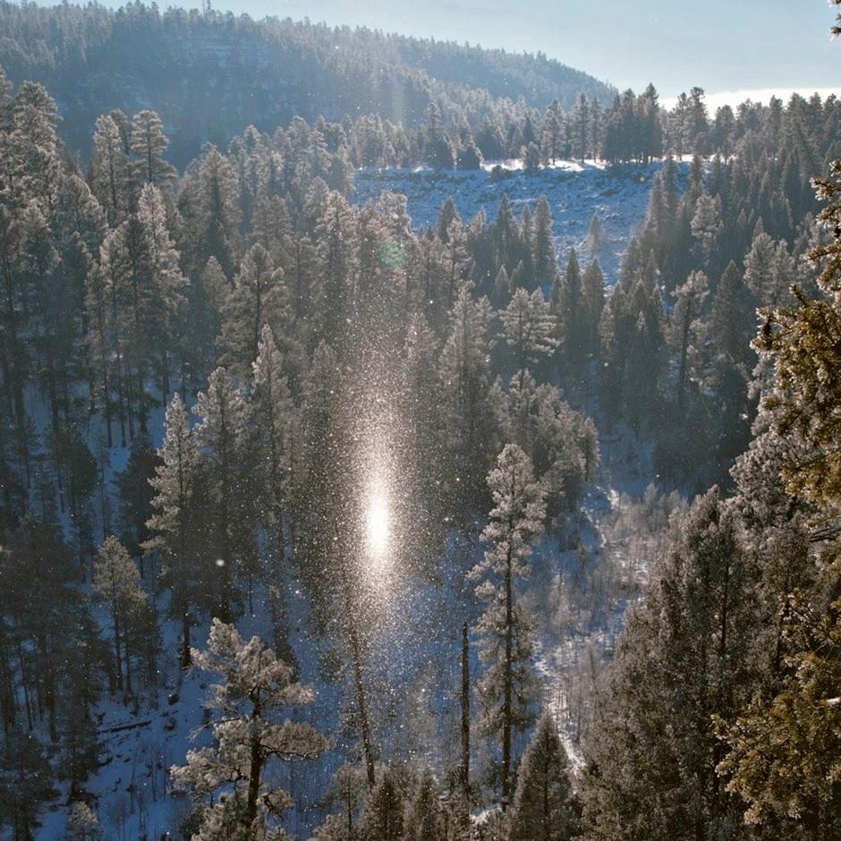 A sub-sun spotted in diamond dust over Walnut Canyon, Arizona, US © Tom Bean
