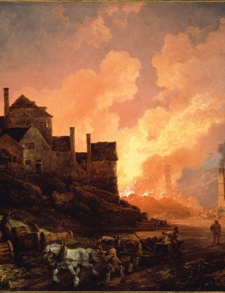 Coalbrookdale by Night, by Philippe Jacques de Loutherbourg, 1801 © Science Museum Group