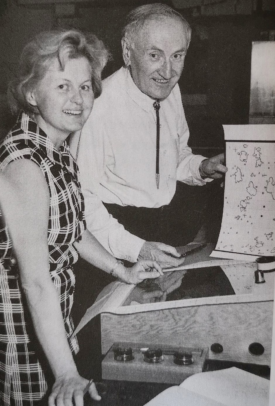 Zwicky with his wife Margrit in around 1965