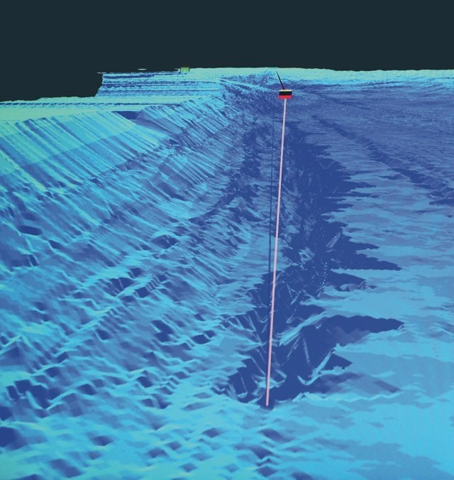 Sonar reading of Loch Ness, taken by a tour boat captain, revealed a deeper section, which some people think could be a hiding place for Nessie © Shutterstock