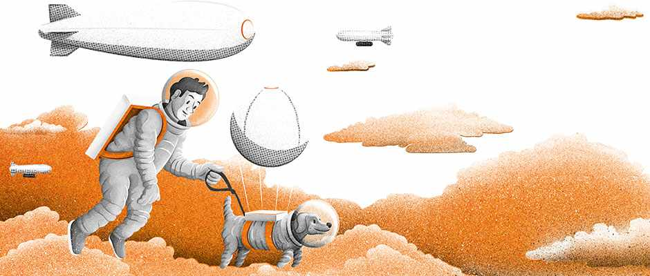 Could we live on airships in the atmosphere of Venus? © Dan Bright