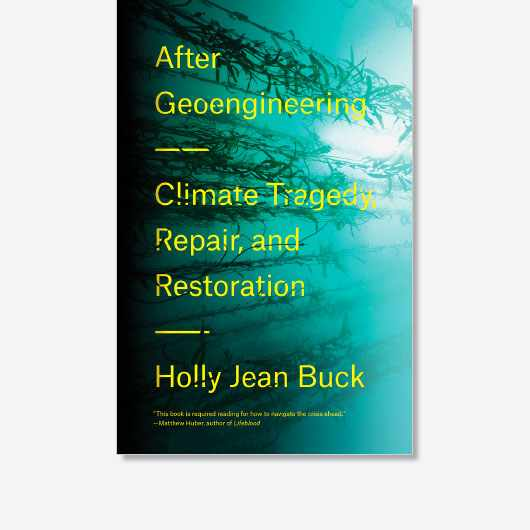 This is an edited extract from After Geoengineering: Climate Tragedy, Repair, and Restoration by Holly Jean Buck, which is available now (£16.99, Verso)
