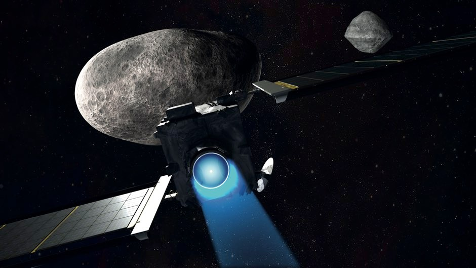 The DART craft is due to arrive at Didymos in 2022, where it will smash into Didymoon © NASA/Johns Hopkins