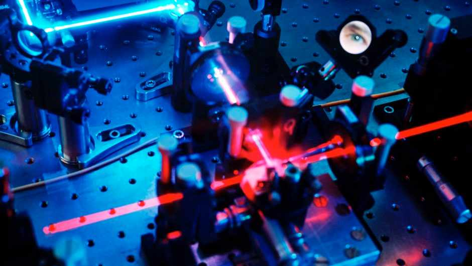 Quantum cryptography in a box of chocolates (Quantum cryptography equipment © Getty Images)
