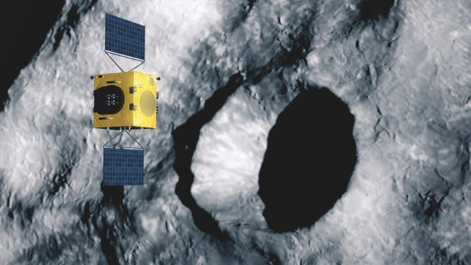 Hera will investigate the impact crater caused by DART, assisted by a pair of CubeSat mini satellites © NASA/Johns Hopkins