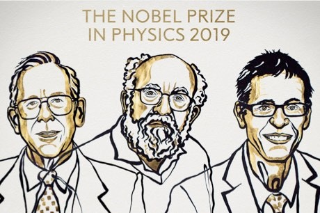 "2019 Nobel Prize in Physics awarded for understanding evolution of the Universe and ""Earth's place in the cosmos"" (Nobel:PA)"
