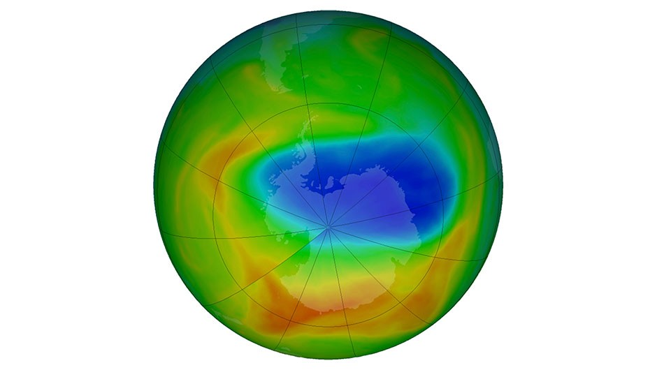 Ozone hole shrinks due to warmer than average air temperature