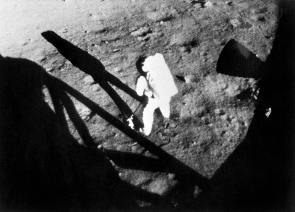 Neil Armstrong had to bunny hop on the lunar surface © PA