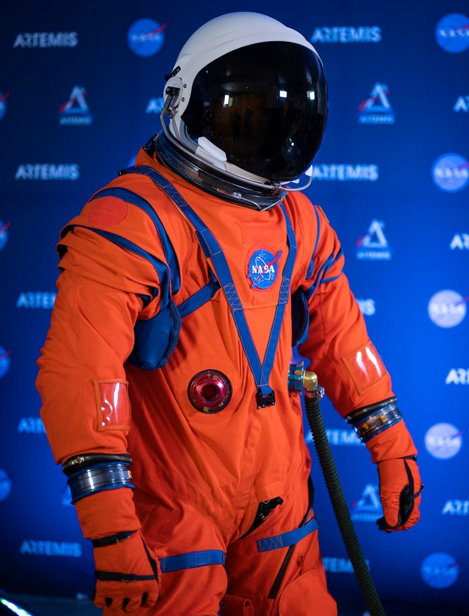The Orion Crew Survival System (OCSS) suit for high-risk activity inside spacecraft, such as launch © PA/Nasa/Joel Kowsky