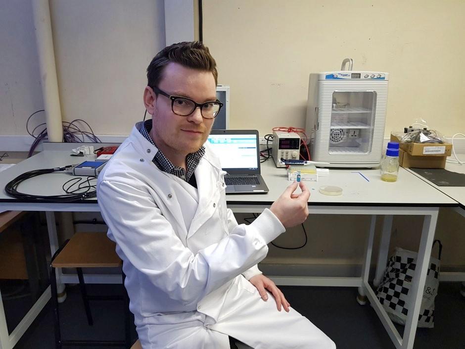 The paper's lead author, Dr Stuart Hannah © University of Strathclyde/PA