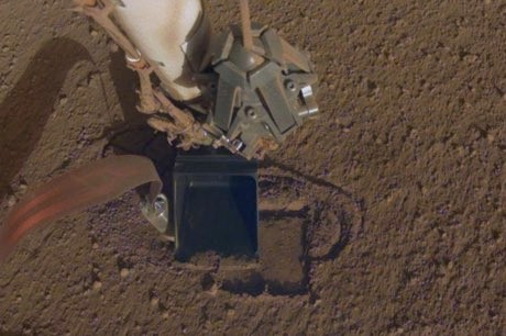 NASA's InSight digging into Mars after 7-month setback