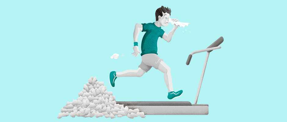 I'm addicted to the gym, but I have a cold. Can I still exercise? © Dan Bright
