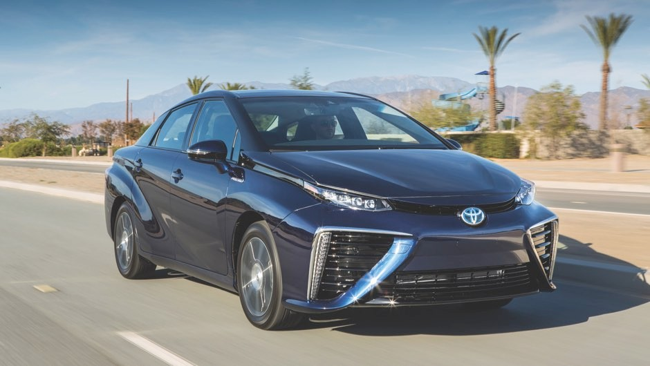 The older model of the Toyota Mirai, as tested by the Science Focus team © Toyota