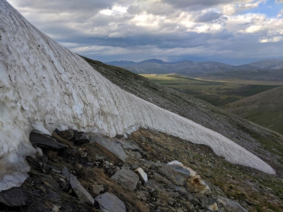 Climate change causing Mongolian 'eternal ice' melt (An ice patch nearing complete melt in northern Mongolia's Ulaan Taiga Special Protected Area in 2018 © William Taylor/Colorado University)