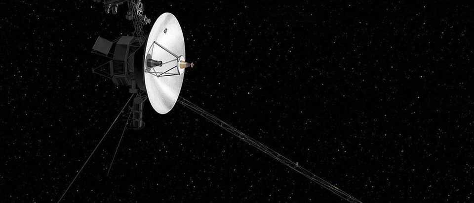 An artist's concept of NASA's Voyager spacecraft © NASA/PA