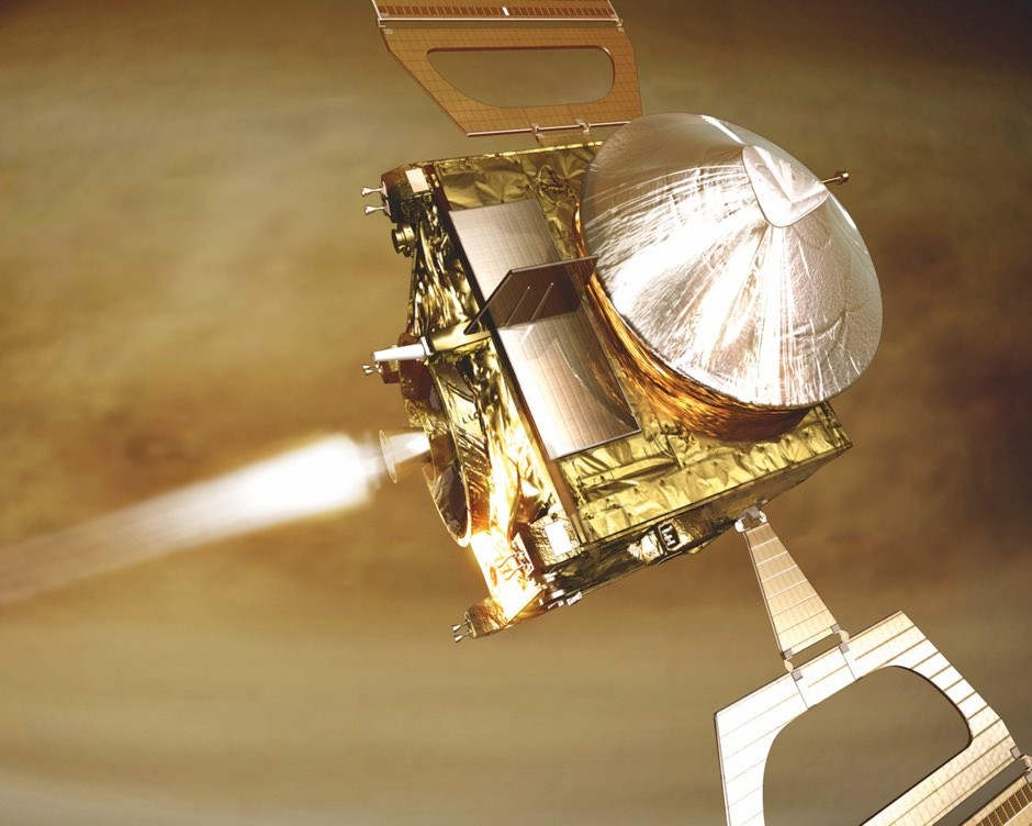 Venus Express, visualised here, was the first ESA mission to explore the second planet from the Sun © ESA/AOES Medialab
