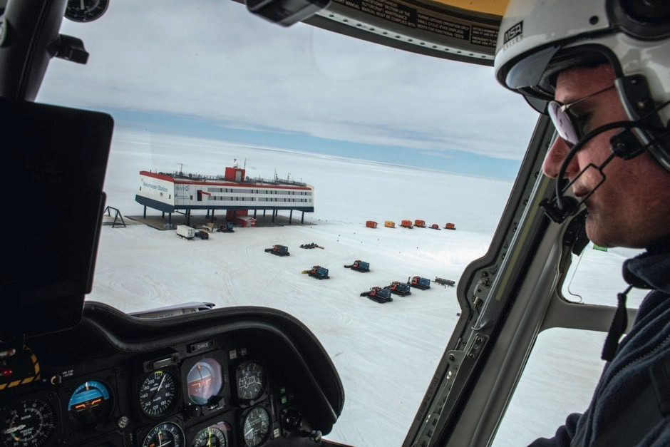 The research station, viewed by helicopter © Esther Horvath