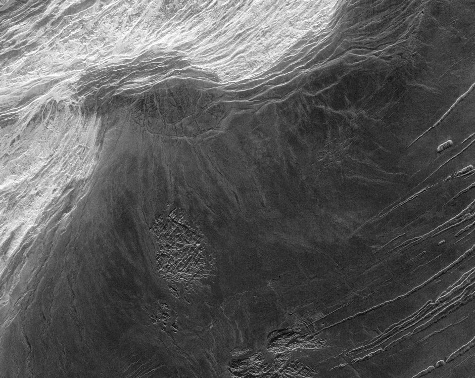 The Maxwell Montes mountain range on Venus includes the planet's highest point, Skadi Mons © NASA