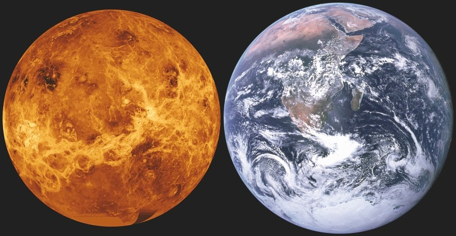 Earth and Venus are extremely similar in size, giving them the moniker of the 'twin planets' © NASA