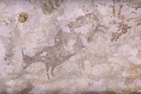 Oldest ever cave painting rewrites history of human spirituality © Maxime Aubert