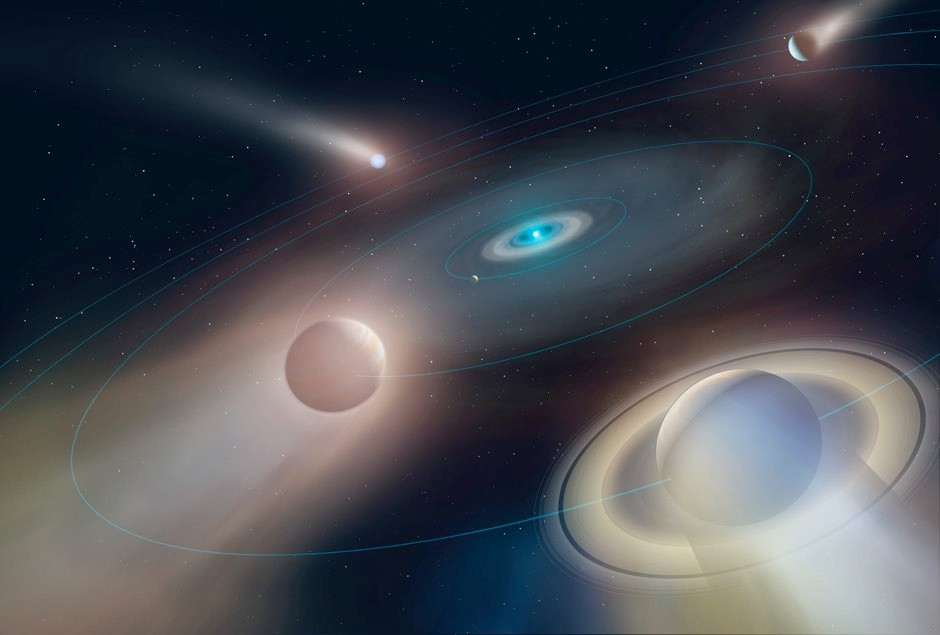 Artist's impression of future of the solar system © Mark Garlick
