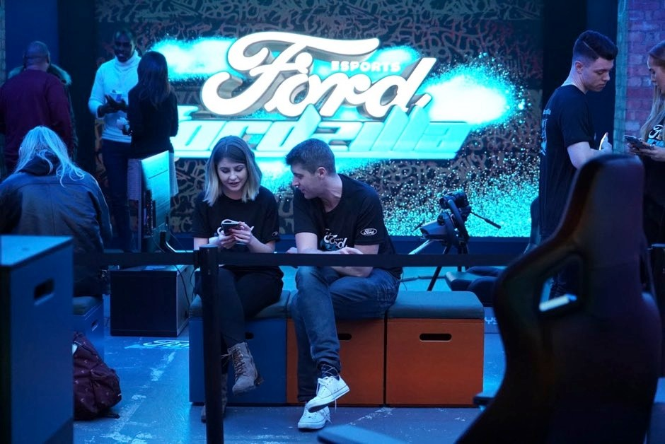 Fordzilla launched a player recruitment event in London for its UK team at the beginning of December © Ford/PA