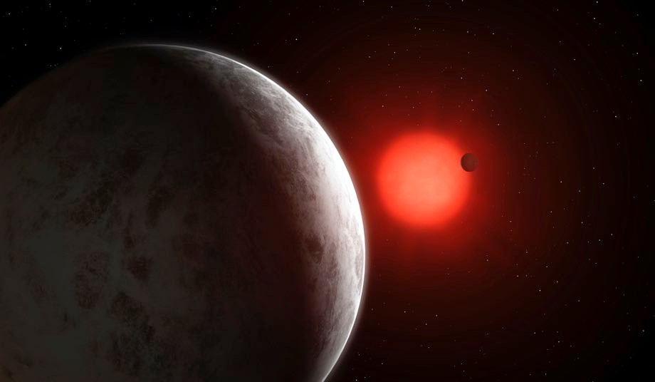 Artist's impression of the multiplanetary system of newly discovered super Earths orbiting nearby red dwarf Gliese 887 Mark Garlick 285d1f8 jpg?quality=90&resize=960,413.'