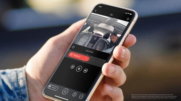 The Ring Car Alarm app © Ring