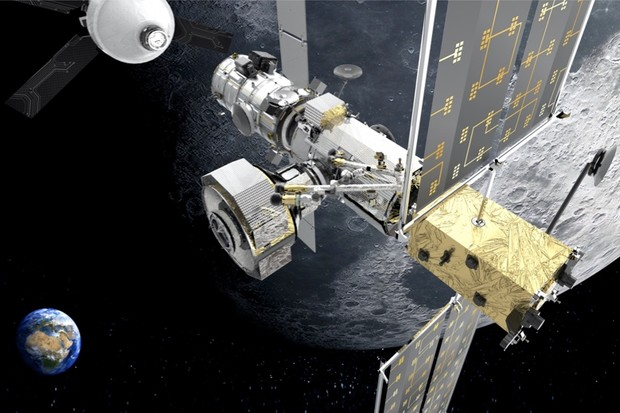 Artist's impression of the lunar gateway, with an Orion crew capsule approaching © Thales Alenia Space.  - Artemis2 02ee0e5 - NASA and ESA unveil bold new plans for the future of space exploration