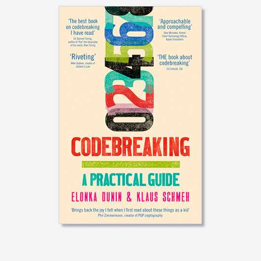 Codebreaking: A Practical Guide (£16.99, Hachette) is out on Thursday 10 December 2020