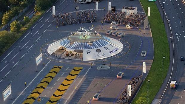 CGI image of the Urban Air Port in Coventry with a Hyundai eVTOL aircraft © Urban Air Port Ltd.