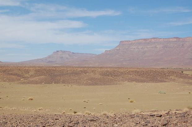 El sitio de los fósiles de Vizoata en Marruecos, donde se descubrió Cantabrigiaster fezouataensis © Cambridge University / PA