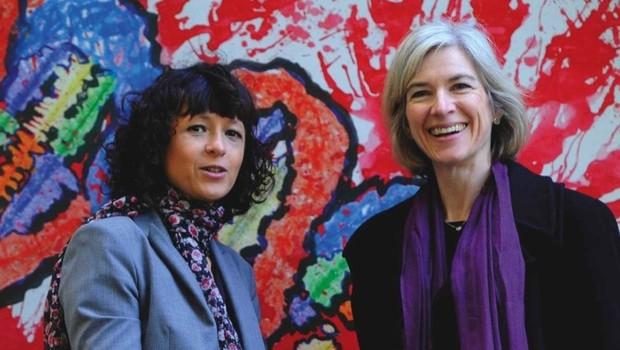 Emmanuelle Charpentier (left) and Jennifer Doudna © Getty Images