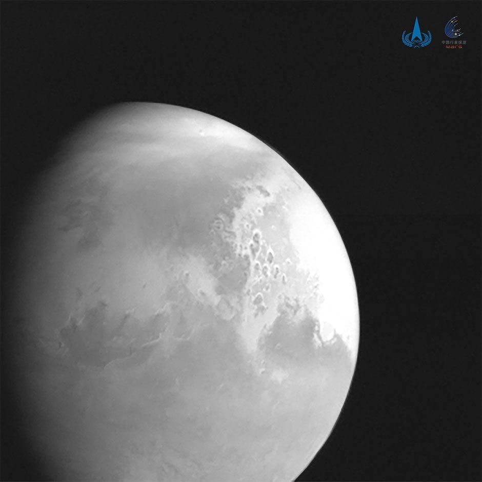Image of Mars taken by China's Tianwen-1 © CNSA/PA