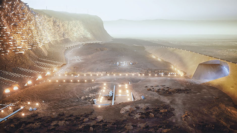 The plans to build a Martian mega city you'd actually want to travel 300 million km to live in