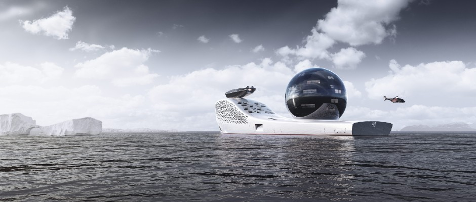 The atomic superyacht on a voyage to save the planet