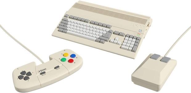 Amiga A500 Mini on white background