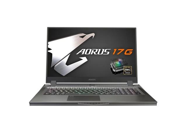 Gigabyte Aorus 17G on white background